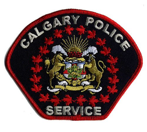 Canada - AB - City of Calgary Police Service (detailed centre)(silver lettering)(large)